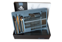 48-piece cutlery sets / gold plated