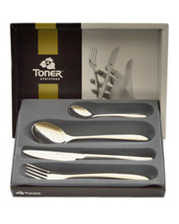 4-piece cutlery sets / gold plated