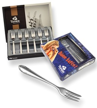 6-piece cake fork sets - prestige or trend packaging