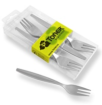 6-piece cake fork sets - modern packaging