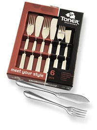 6-piece fish cutlery sets - economic packaging