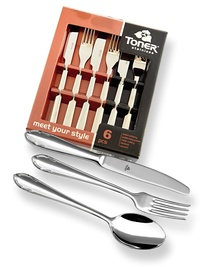 6-piece appetizer & dessert cutlery sets - economic packaging