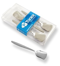 6-piece ice-cream spoon sets - modern packaging