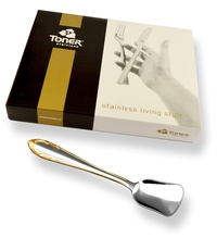 6-piece ice-cream spoon sets / gold plated