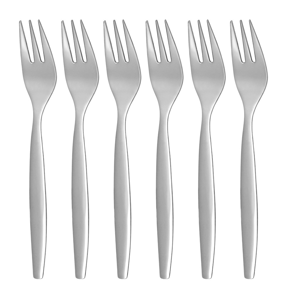 PRAKTIK cake fork 6-piece - modern packaging