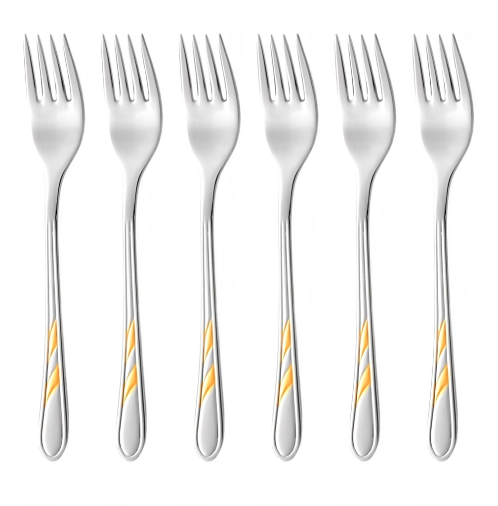 ORION GOLD cake fork 6-piece - prestige packaging
