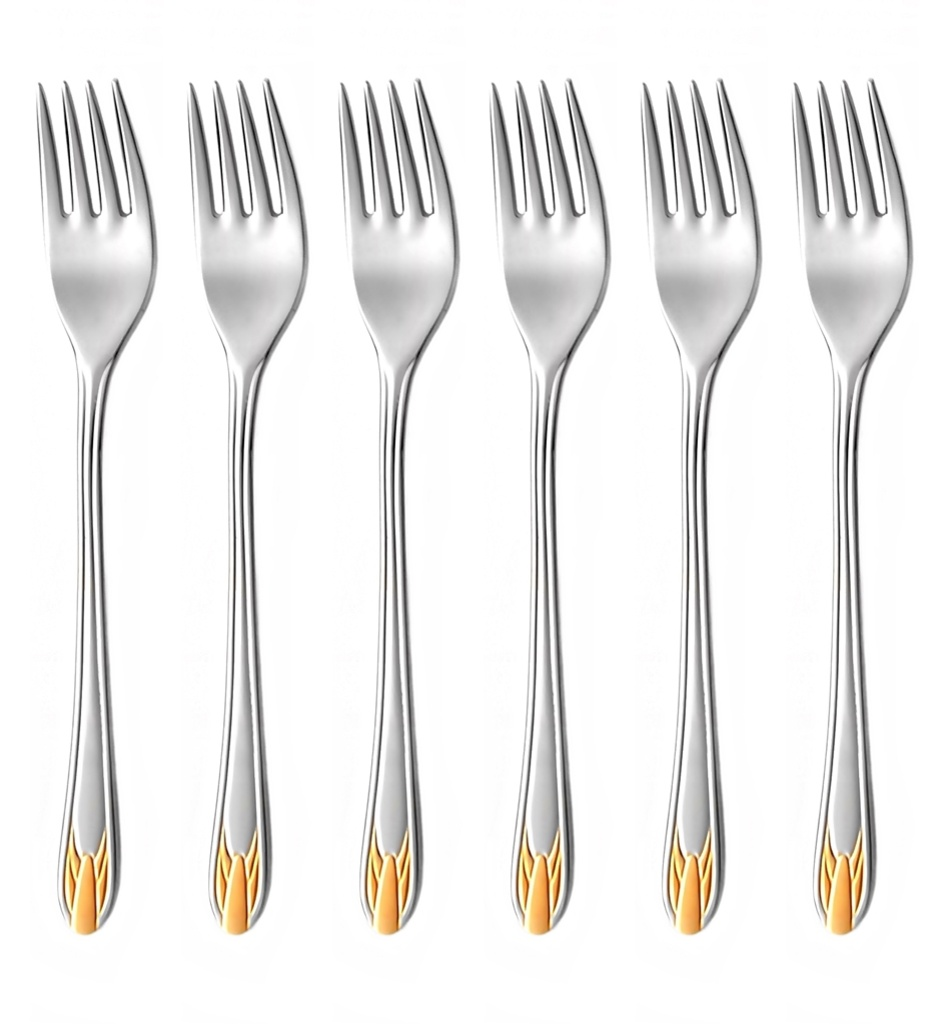 RUBÍN GOLD cake fork 6-piece - prestige packaging