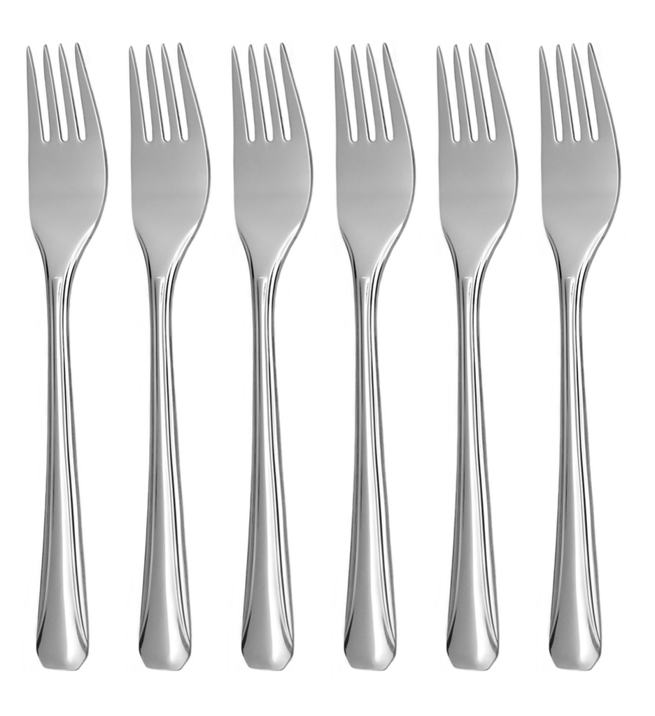 OCTAGON cake fork 6-piece - economic packaging