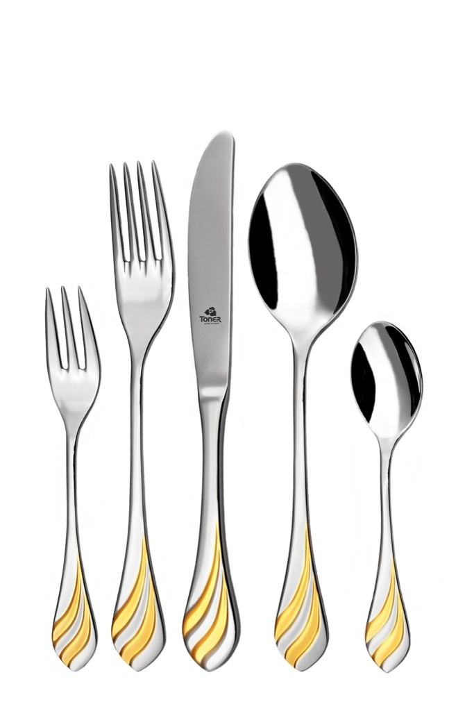 MELODIE GOLD cutlery 30-piece - prestige packaging