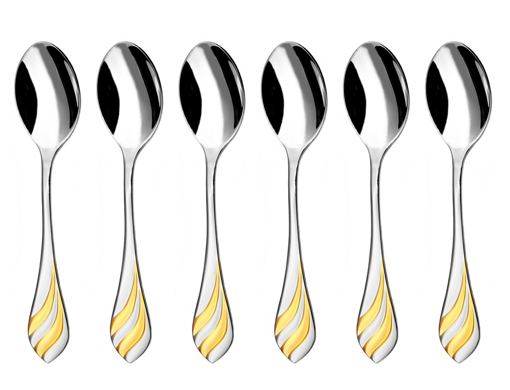 Melo Gold Coffee Spoon 6 Piece