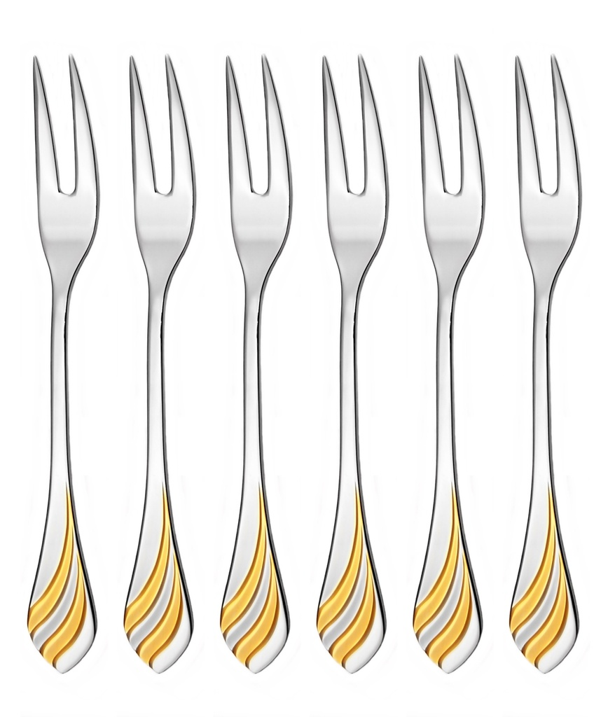 MELODIE GOLD cocktail fork 6-piece - prestige packaging