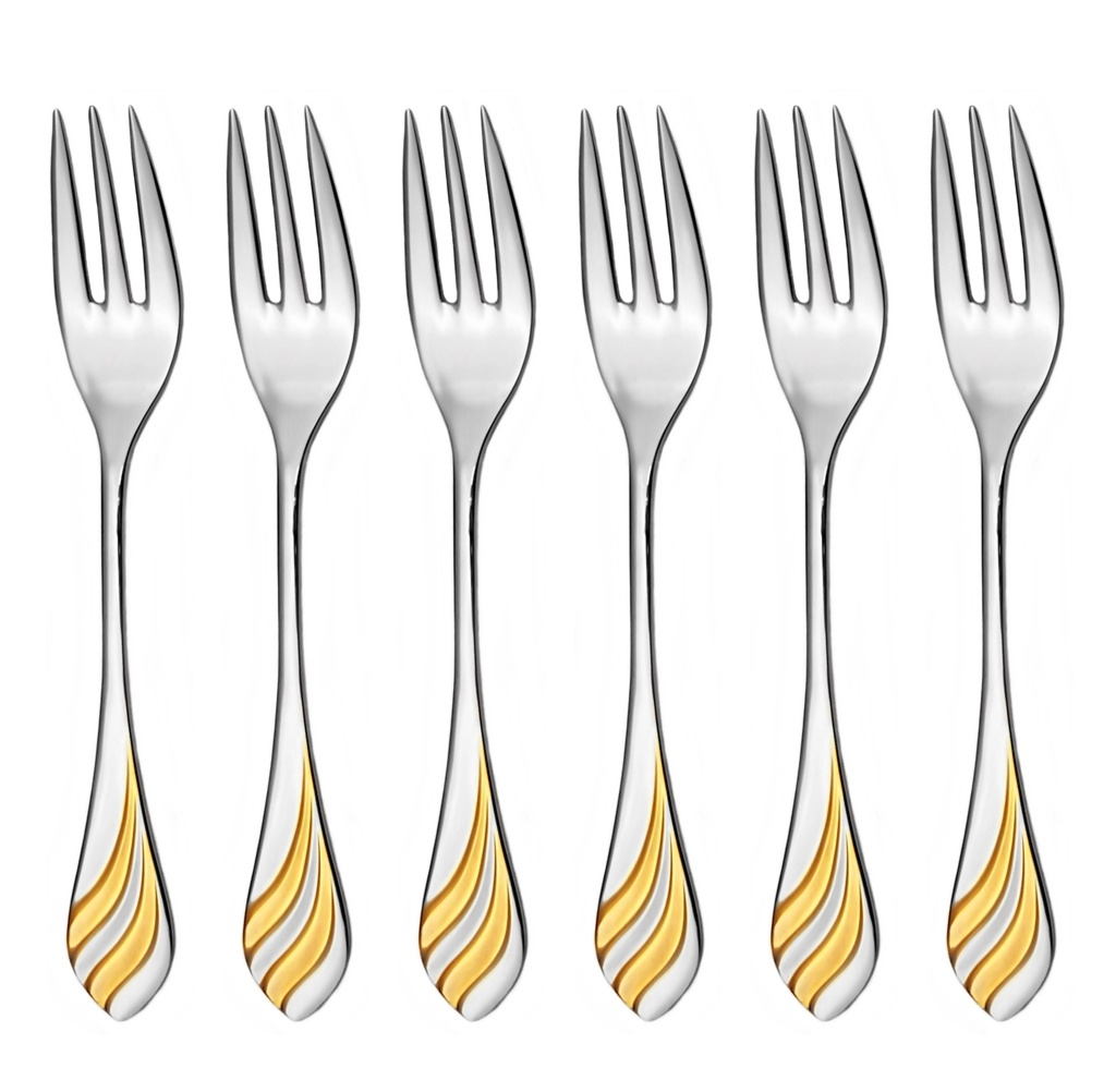 MELODIE GOLD cake fork 6-piece - prestige packaging