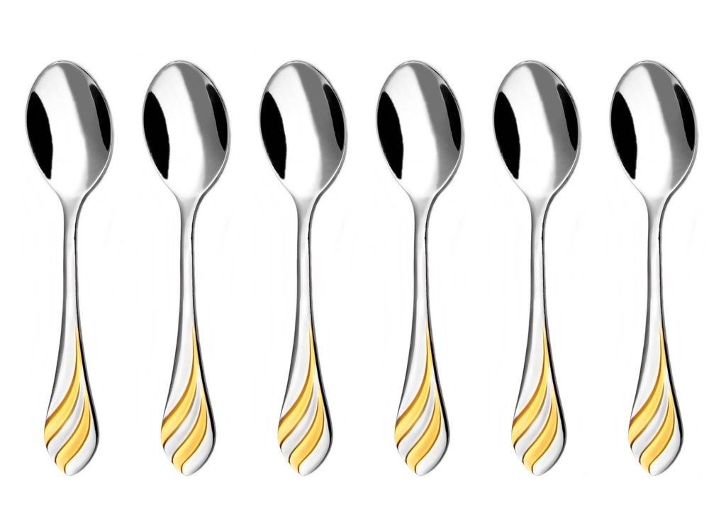 MELODIE GOLD moka spoon 6-piece - prestige packaging