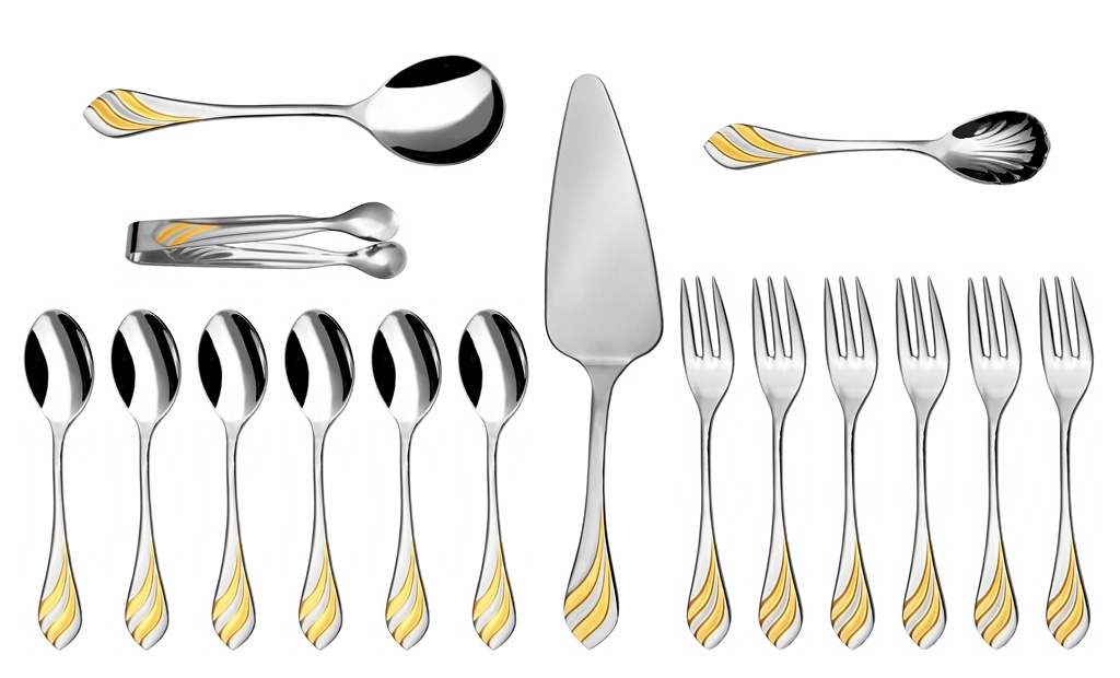 MELODIE GOLD coffee & cake set 16-piece - prestige packaging