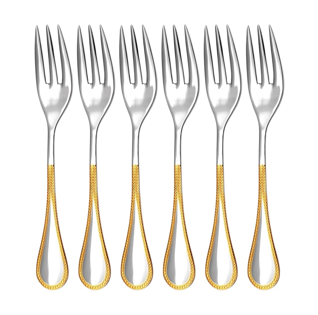KORAL GOLD cake fork 6-piece - prestige packaging