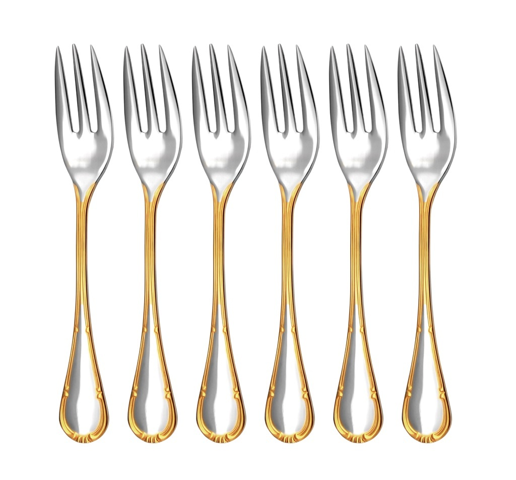 COMTESS GOLD cake fork 6-piece - prestige packaging