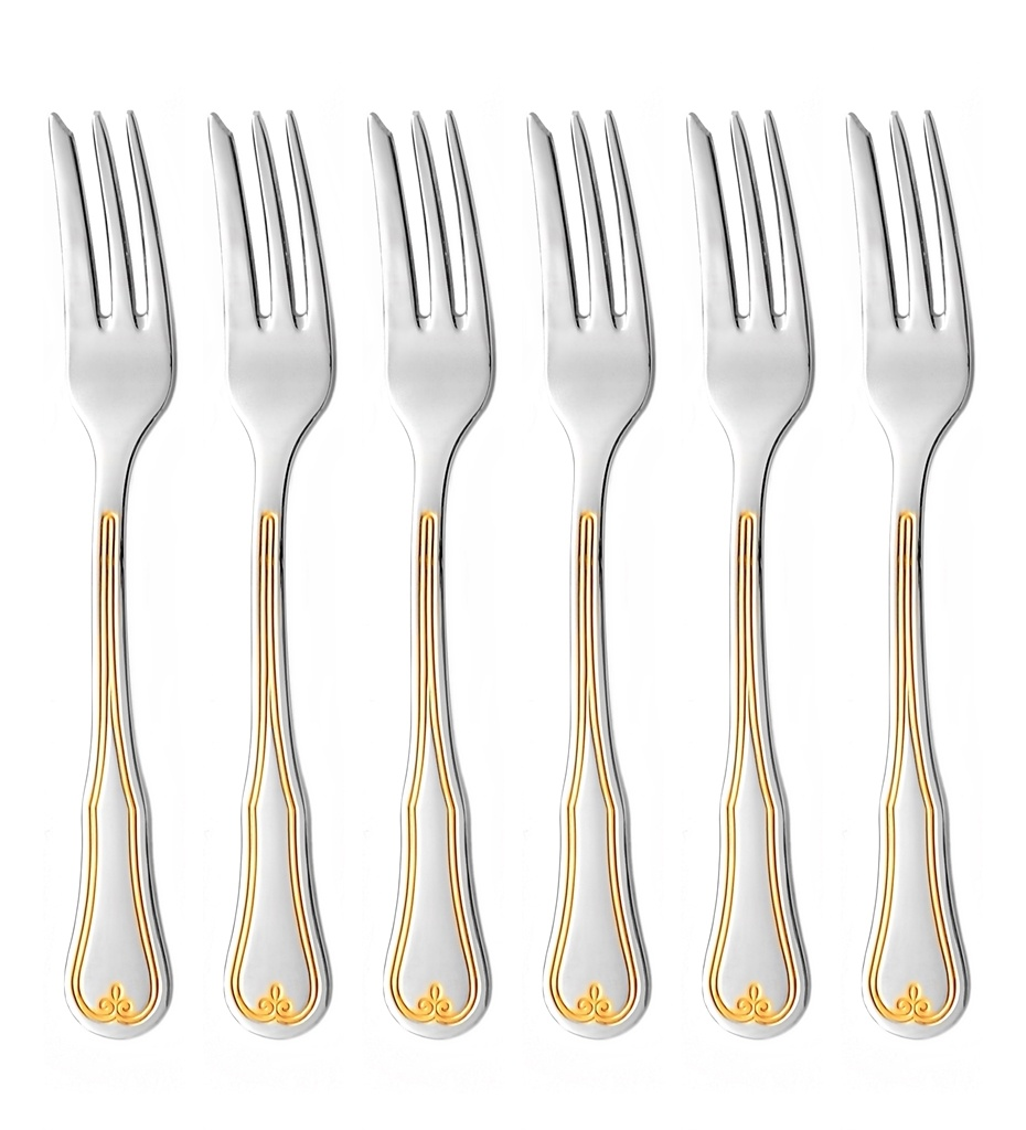 BOHEMIA GOLD cake fork 6-piece - prestige packaging