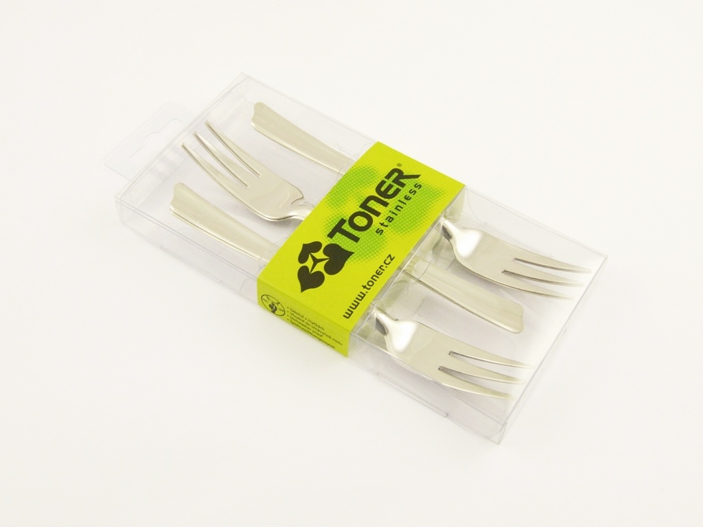 VARENA cake fork 6-piece - modern packaging
