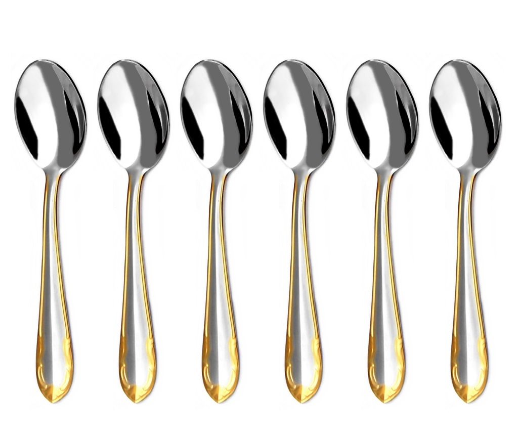 CLASSIC GOLD moka spoon 6-piece - prestige packaging