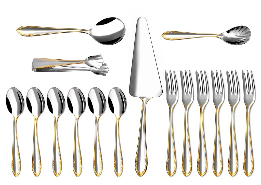 CLASSIC GOLD coffee & cake set 16-piece - prestige packaging