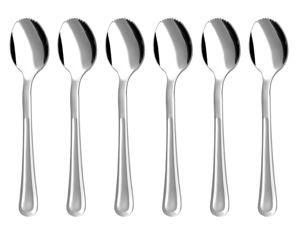 PRAHA grapefruit / kiwi spoon 6-piece - economic packaging