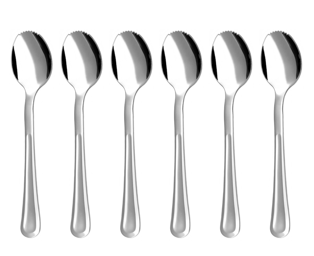 PRAHA grapefruit / kiwi spoon 6-piece - prestige or trend packaging