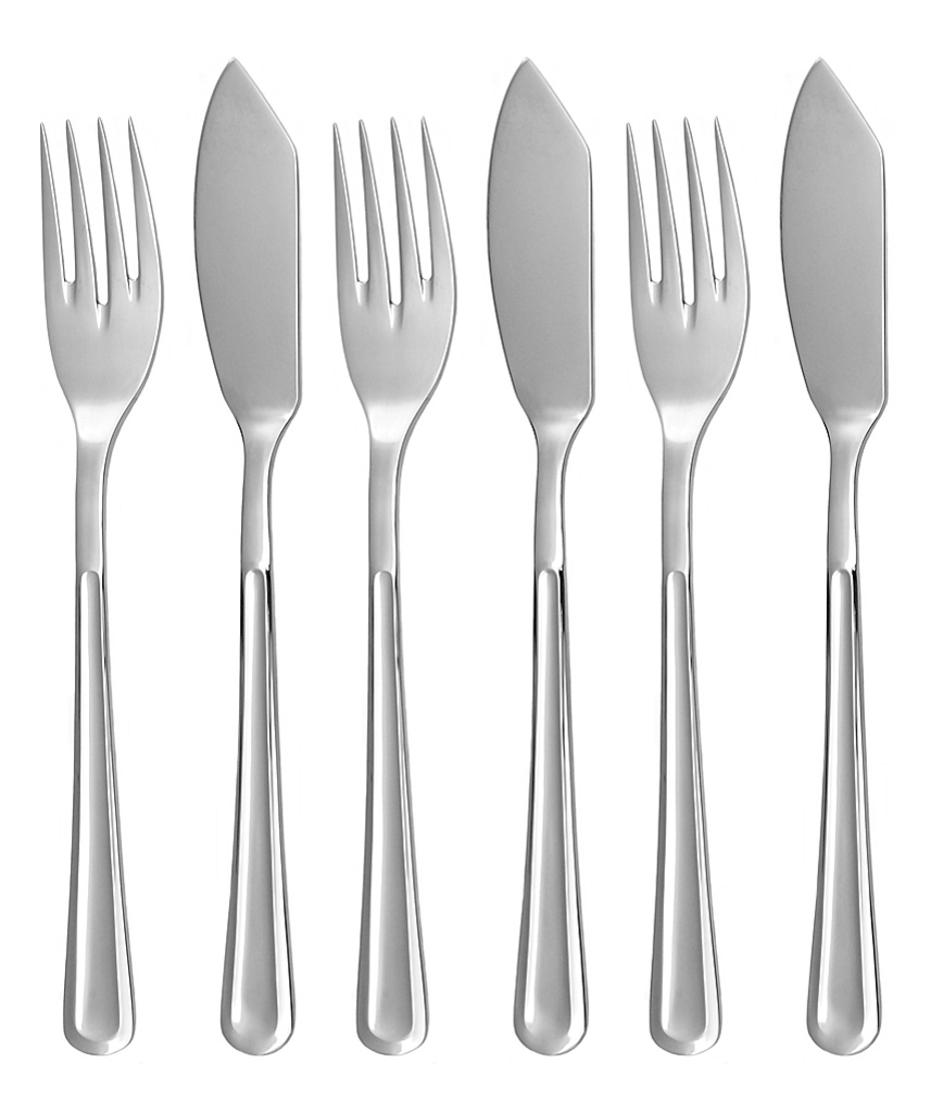 PRAHA fish cutlery 6-piece - economic packaging