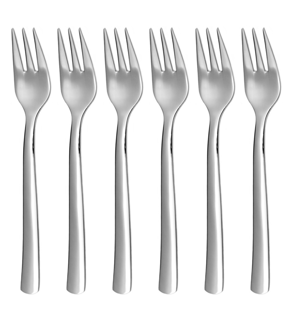 PROGRES NOVA cake fork 6-piece - economic packaging