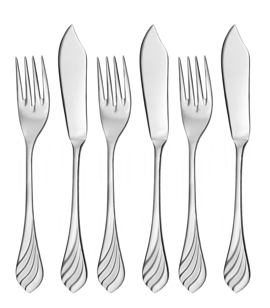 MELODIE fish cutlery 6-piece - economic packaging