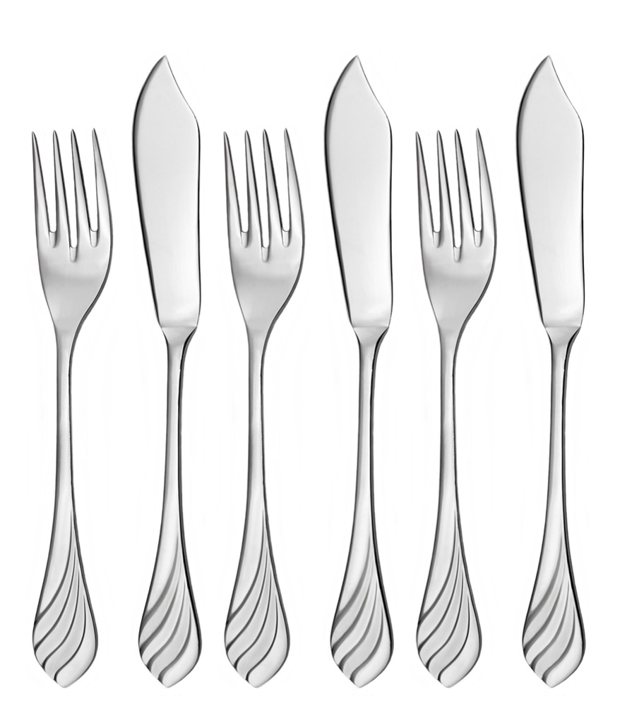 MELODIE fish cutlery 6-piece - prestige packaging