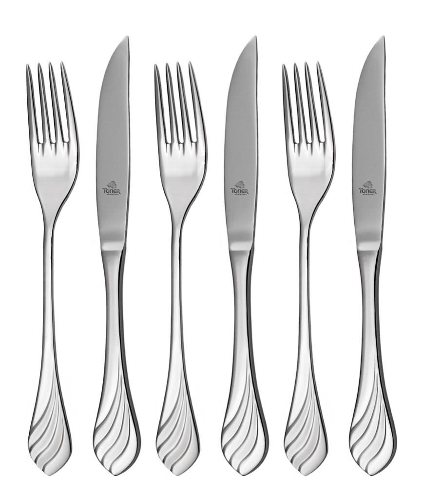 MELODIE steak cutlery 6 piece - economic packaging