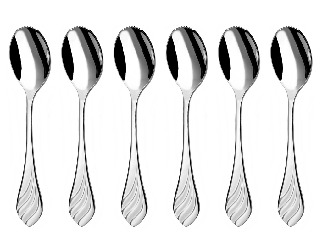 MELODIE grapefruit / kiwi spoon 6-piece - economic packaging