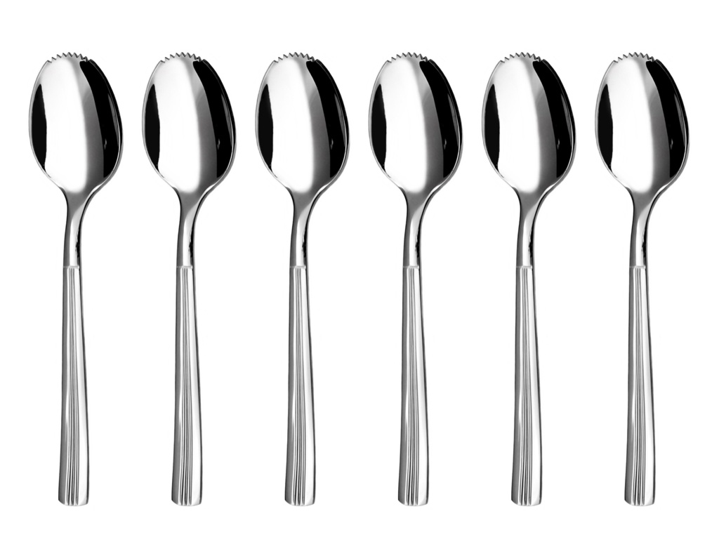 JULIE grapefruit / kiwi spoon 6-piece - economic packaging