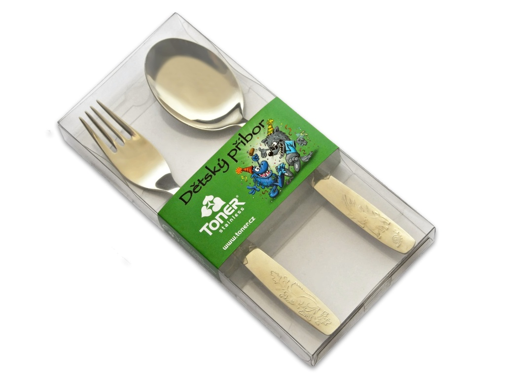 BABY cutlery 2-piece - modern packaging