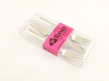 KORINT cake fork 6-piece - modern packaging