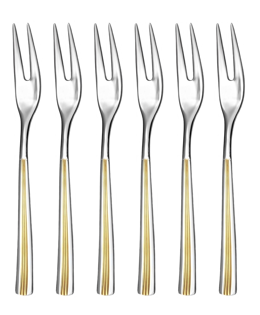 JULIE GOLD cocktail fork 6-piece - prestige packaging