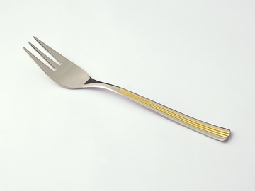 JULIE GOLD cake fork 6-piece - prestige packaging