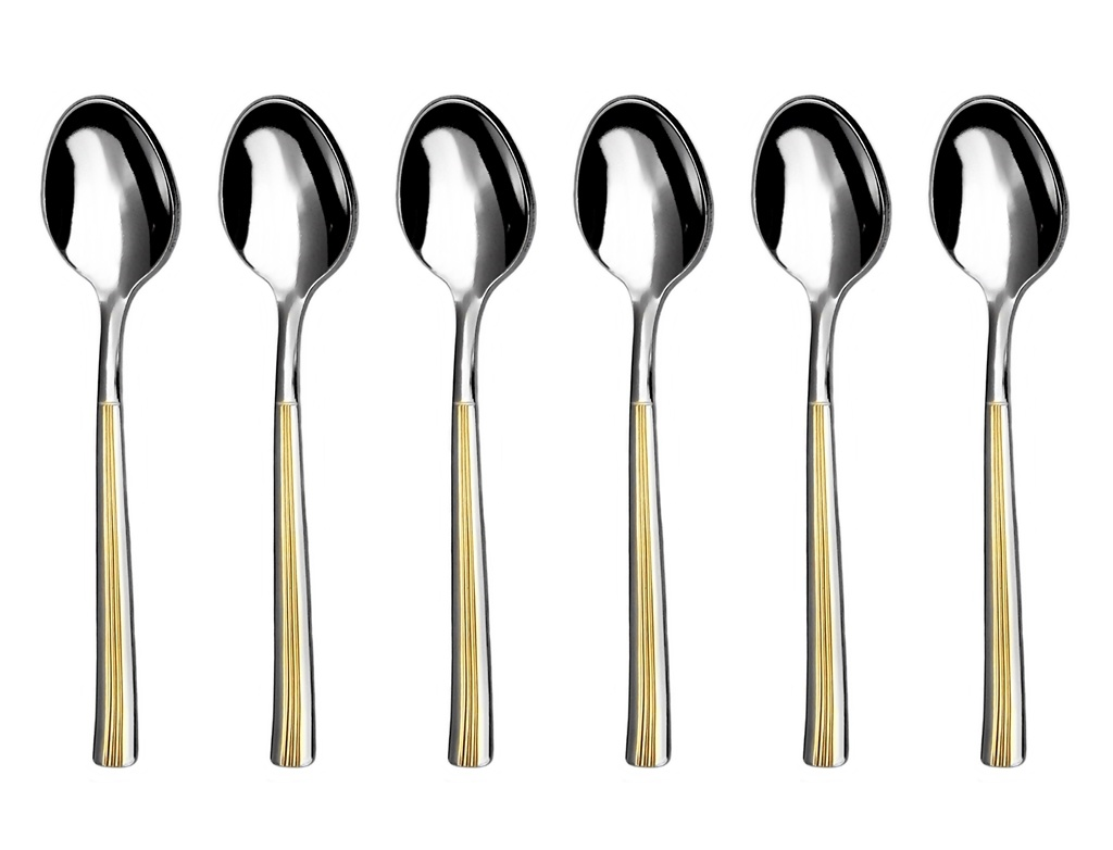 JULIE GOLD moka spoon 6-piece - prestige packaging