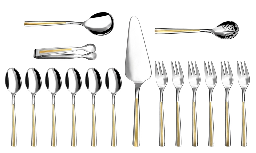 JULIE GOLD coffee & cake set 16-piece - prestige packaging