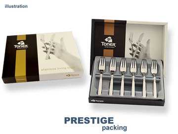 SYMFONIE GOLD cake fork 6-piece - prestige packaging